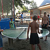 Table tennis, round table