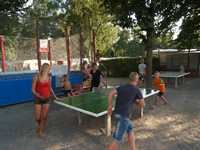 Table de tennis, tournante